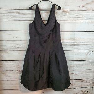 WHBM | Floral Tulle Sleeveless Jacquard Midi Dress